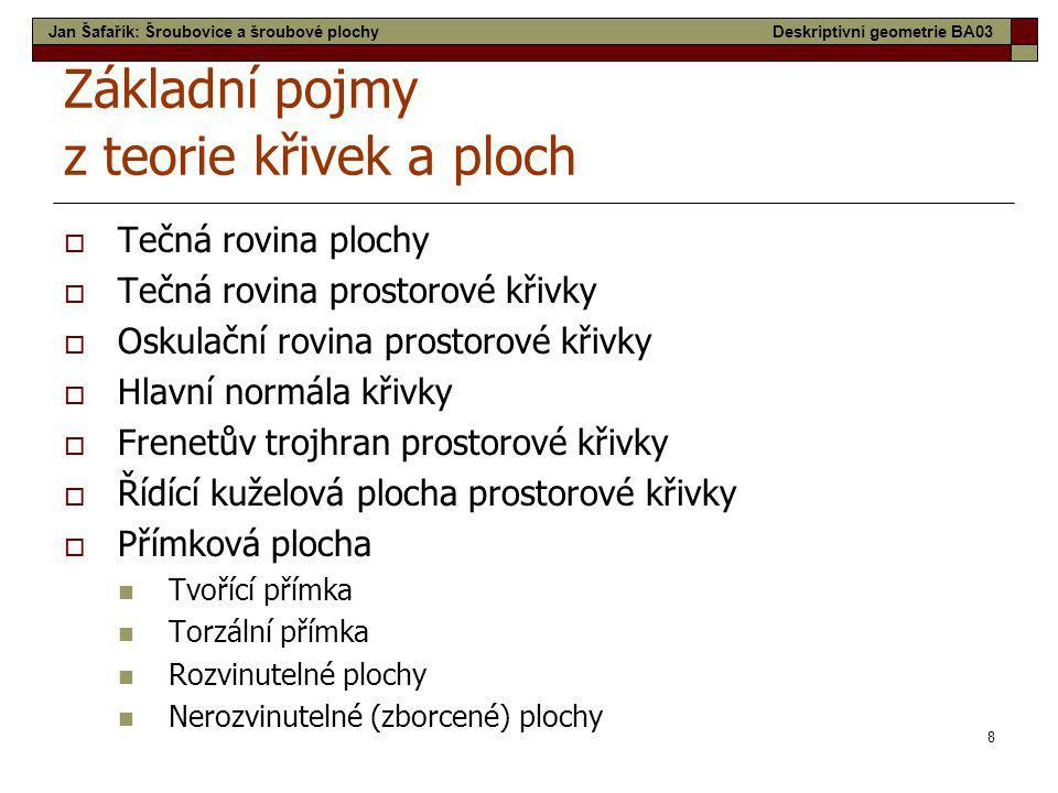 19 Lednice - Minaret Jan Šafařík: Šroubovice a šroubové plochyDeskriptivní geometrie BA03