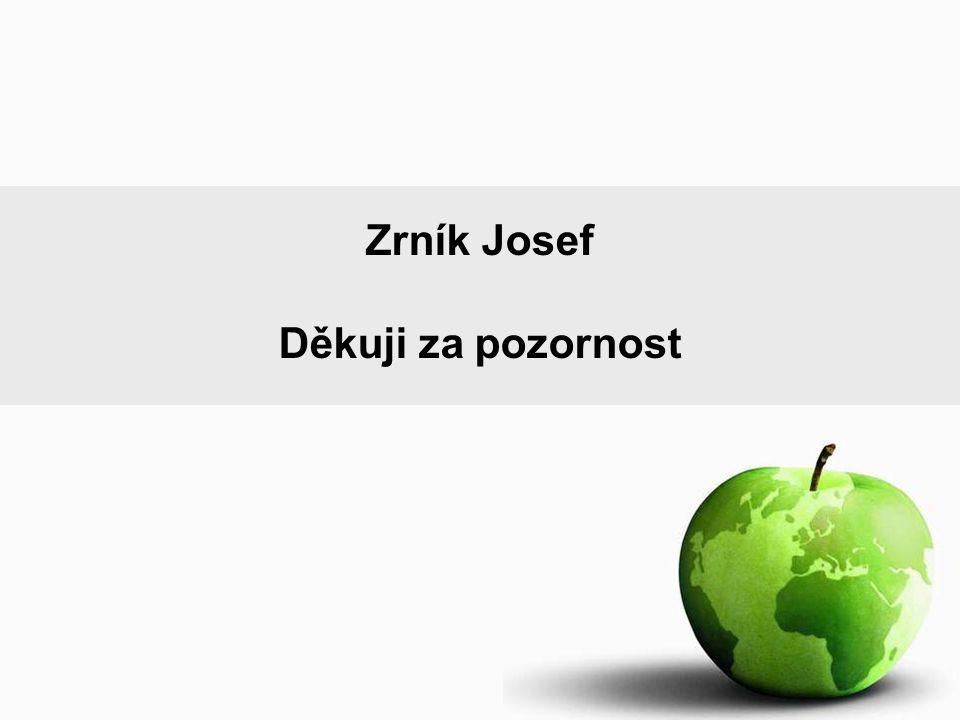 Zrník Josef Děkuji za pozornost