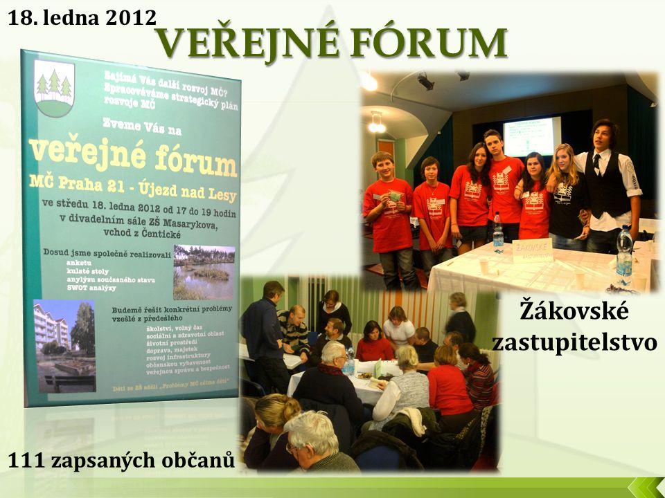 18. ledna 2012 111 zapsaných občanů Žákovské zastupitelstvo