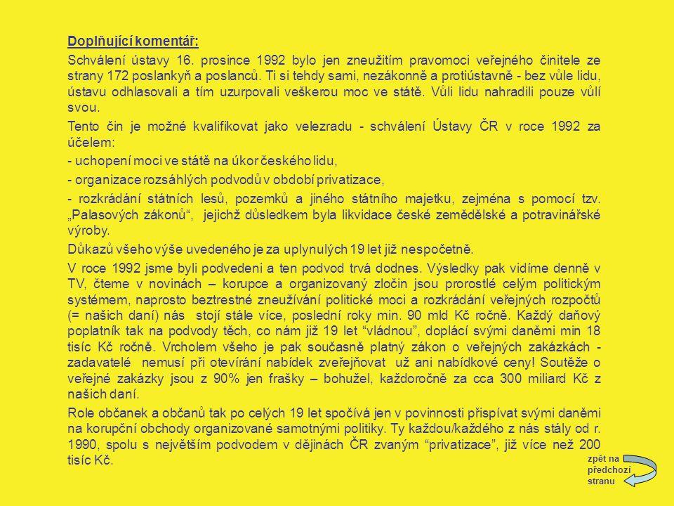 Doplňující komentář: Schválení ústavy 16.