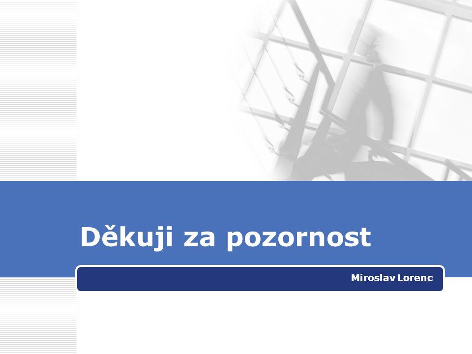 Děkuji za pozornost Miroslav Lorenc