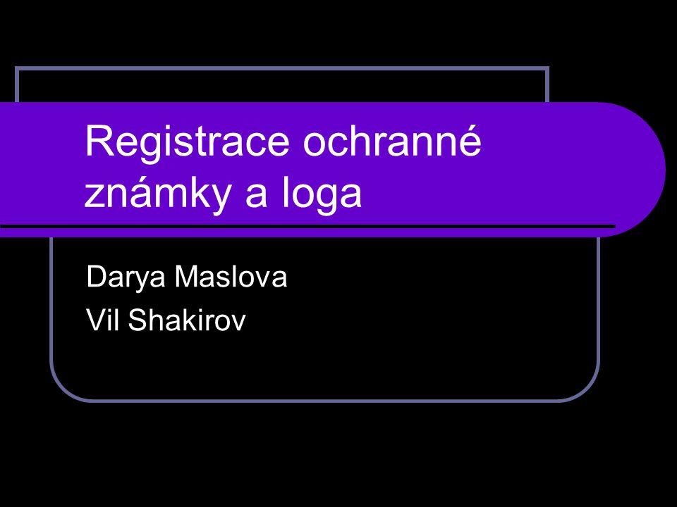 Registrace ochranné známky a loga Darya Maslova Vil Shakirov