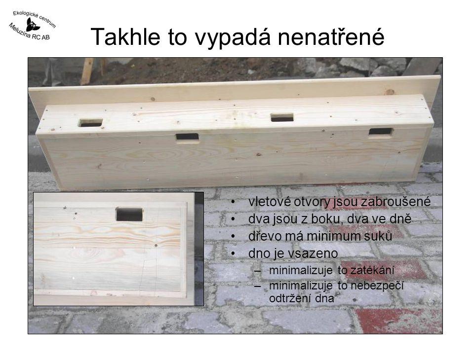 Hlavně aby to nespadlo těžká budka bude vysoko co je těžké a vysoko musí pevně držet, i když rorýs nic neváží nebojte se předimenzovat hmoždinky, vruty i pásové železo kotvení každopádně do betonu nebo jiné pevné zdi
