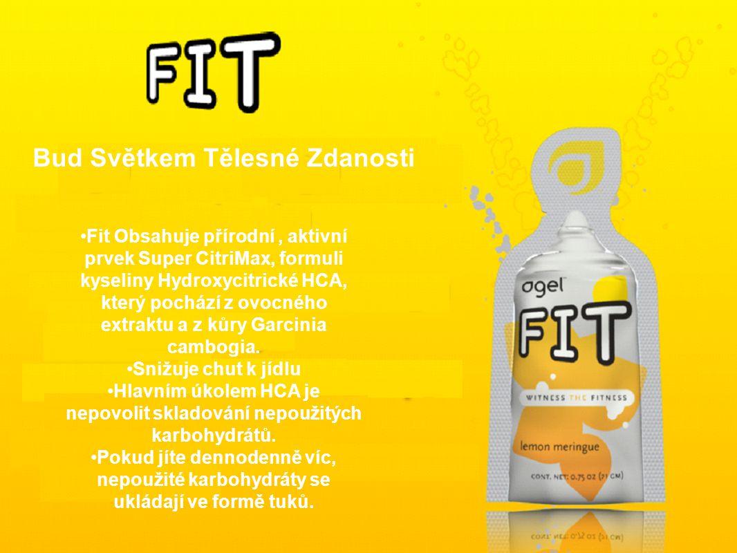 Fit Obsahuje přírodní, aktivní prvek Super CitriMax, formuli kyseliny Hydroxycitrické HCA, který pochází z ovocného extraktu a z kůry Garcinia cambogia.