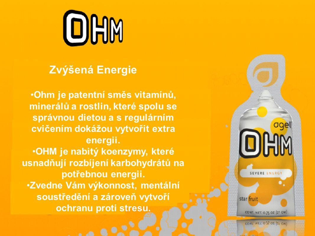 Ohm je patentní směs vitamínů, minerálů a rostlin, které spolu se správnou dietou a s regulárním cvičením dokážou vytvořit extra energii.