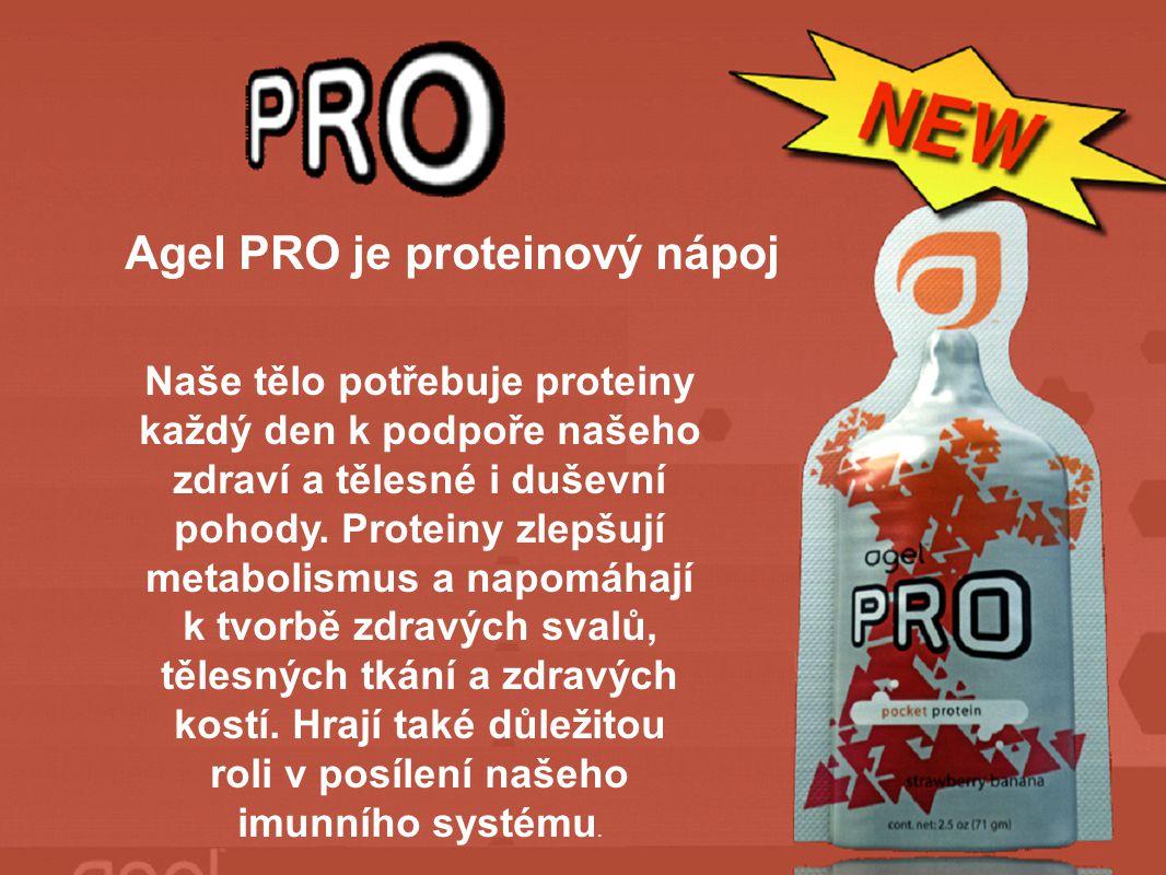 Agel PRO je proteinový nápoj Naše tělo potřebuje proteiny každý den k podpoře našeho zdraví a tělesné i duševní pohody.