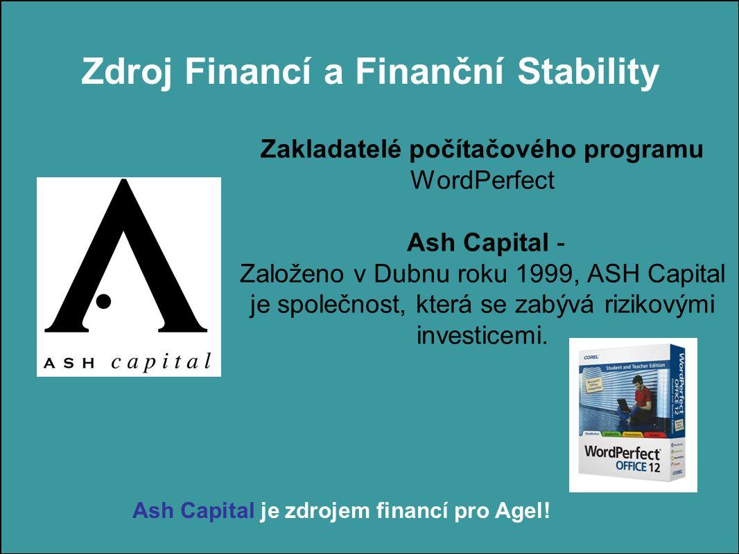 Zakladatelé počítačového programu WordPerfect Ash Capital - Založeno v Dubnu roku 1999, ASH Capital je společnost, která se zabývá rizikovými investicemi.