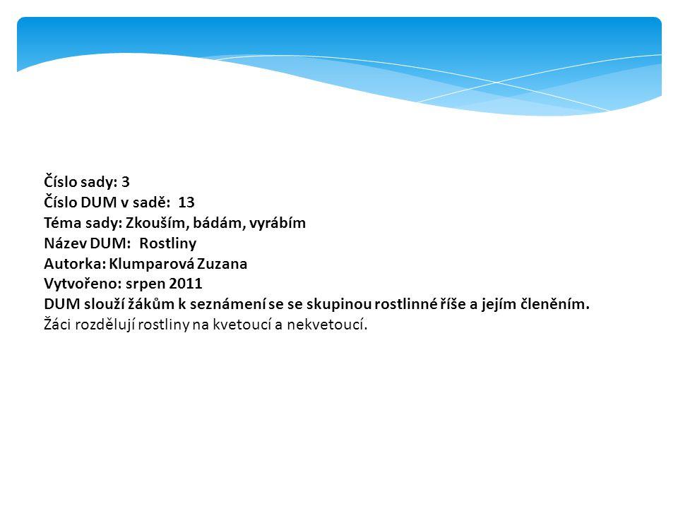 Popis prezentace: List č.2: kliknutím myší na obláček se objeví text List č.