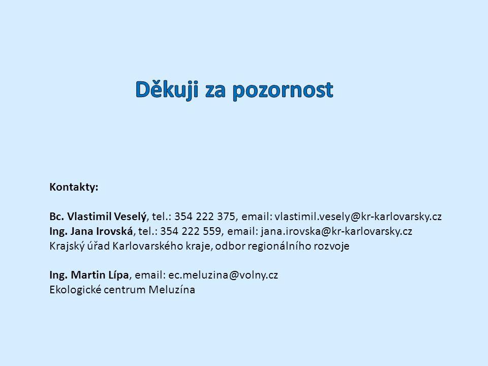 Kontakty: Bc. Vlastimil Veselý, tel.: 354 222 375, email: vlastimil.vesely@kr-karlovarsky.cz Ing.
