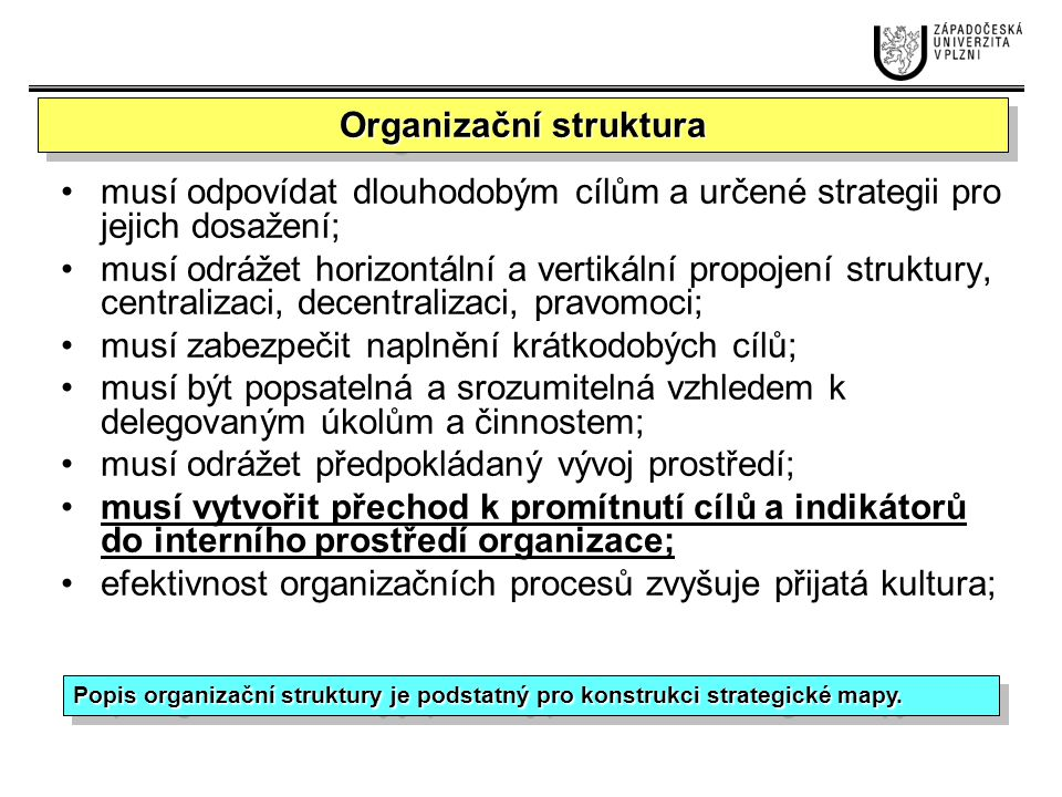"""Vývoj řešení Služby pro zákazníky Řízení vztahů Poradenské služby Zákaznické manažerské procesy Idea/nápad/invence Vývoj produktů Využití/exploatace (rychlý vstup na trh) Inovační procesy Provozní procesy Inovační procesy Zákaznické manažerské procesy Provozní procesy Řízení dodavatel- ského řetězce Efektivnost provozu: náklady, kvalita, doby Řízení kapacit (zajištění základních požadavků, které vyplývají ze strategických cílů) (zajištění základních požadavků, které vyplývají ze strategických cílů) (zajištění základních požadavků, které vyplývají ze strategických cílů) (zajištění základních požadavků, které vyplývají ze strategických cílů) (zajištění základních požadavků, které vyplývají ze strategických cílů) (zajištění základních požadavků, které vyplývají ze strategických cílů) Vedoucí pozice v poskytování produktů Důvěrná znalost potřeb zákazníků Provozní výjimečnost/ excelentnost BSC – hledisko interních procesů Poznámka: Poznámka: Mnoho organizací se """"hlásí např."""