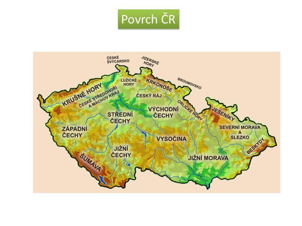 Názvy pohoří  Krušné hory  Lužické a Jizerské hory  Krkonoše  Orlické hory  Hrubý Jeseník a Nízký Jeseník  Moravskoslezské Beskydy