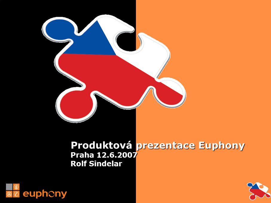 Produktová prezentace Euphony Praha 12.6.2007 Rolf Sindelar