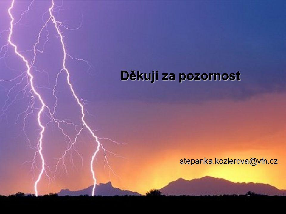 Mgr. Štěpánka Kozlerová © 2011 1. LF UK a VFN Praha Děkuji za pozornost stepanka.kozlerova@vfn.cz