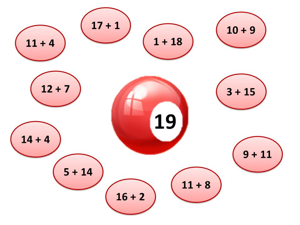 19 11 + 4 5 + 14 12 + 7 14 + 4 16 + 2 11 + 8 9 + 11 3 + 15 10 + 9 1 + 18 17 + 1