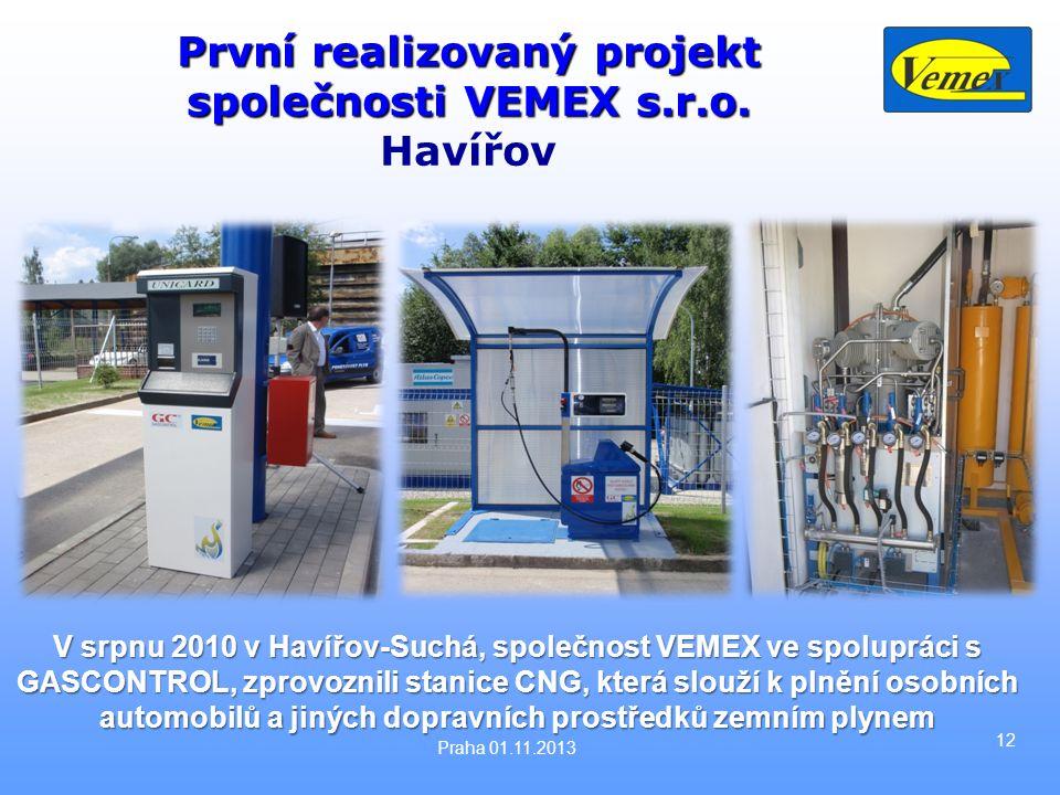 První realizovaný projekt společnosti VEMEX s.r.o.