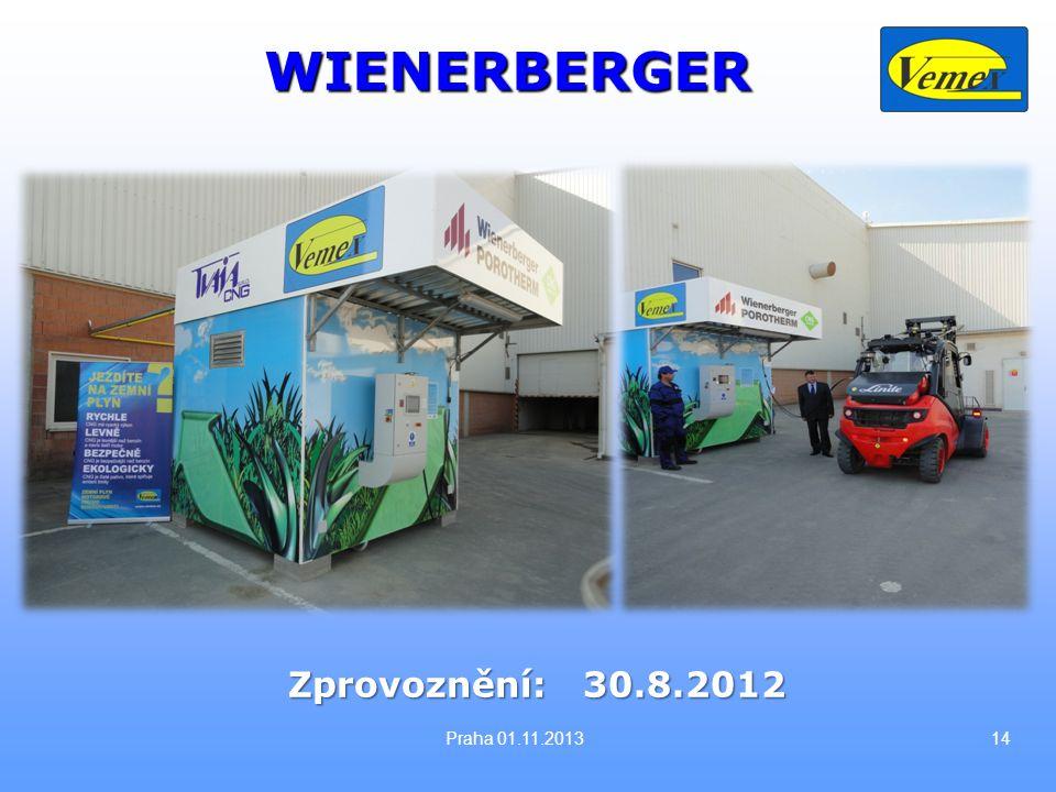 14 Zprovoznění: 30.8.2012 WIENERBERGER Praha 01.11.2013