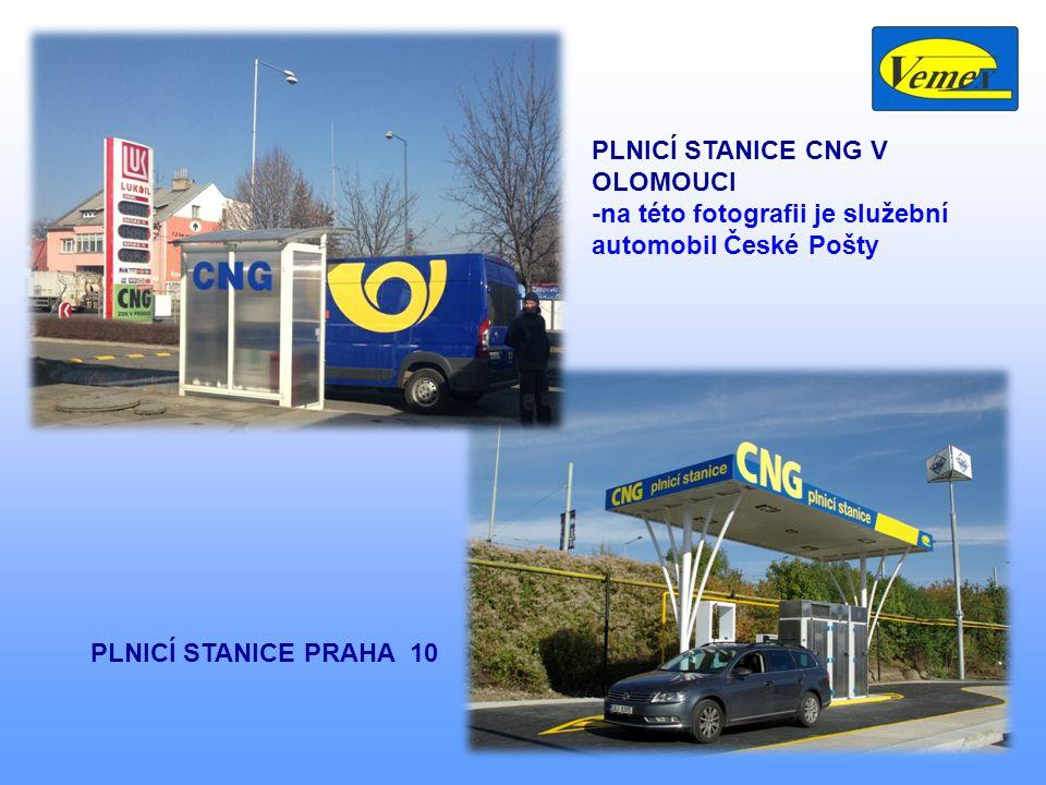 17 PLNICÍ STANICE CNG V OLOMOUCI -na této fotografii je služební automobil České Pošty PLNICÍ STANICE PRAHA 10