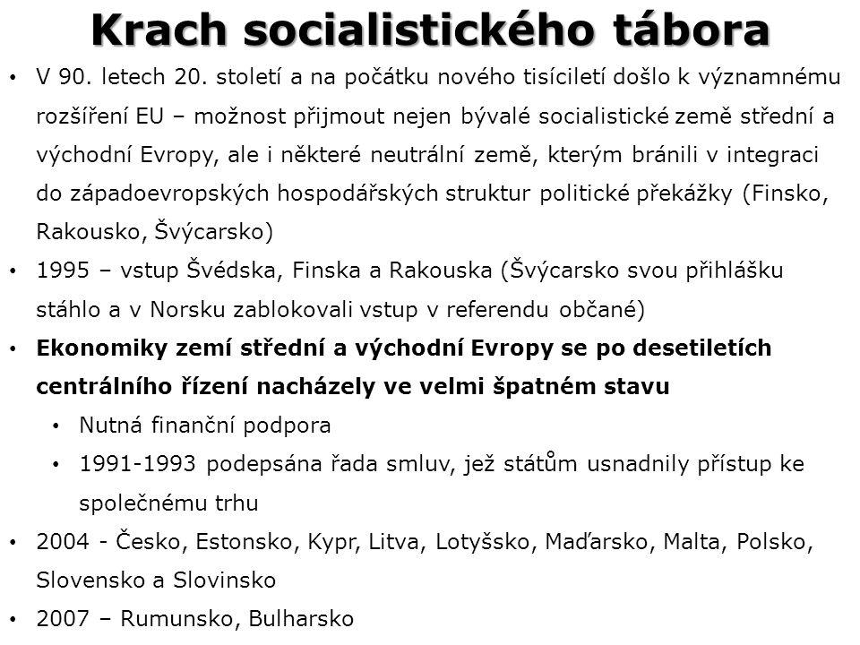 Krach socialistického tábora V 90.letech 20.