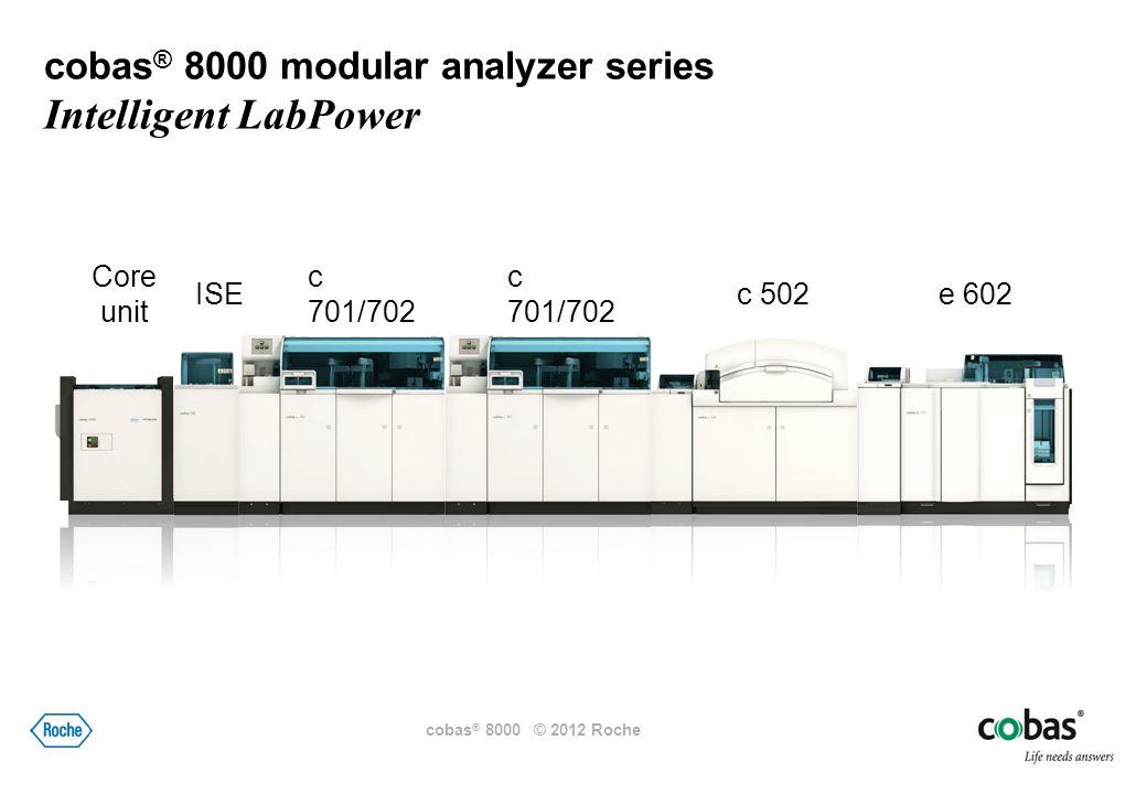 300 1,000 Vstup vzorků Výstup vzorků cobas ® 8000 modular analyzer series Intelligent LabPower Core unit cobas ® 8000 © 2012 Roche