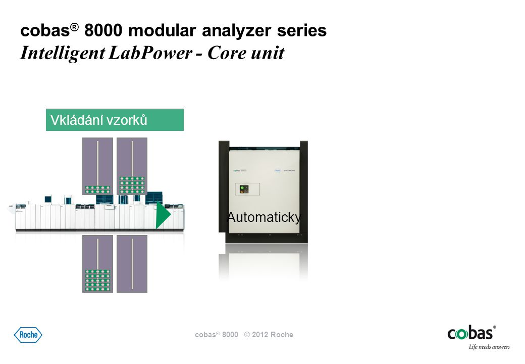 900 1,800 cobas ® 8000 modular analyzer series Intelligent LabPower – cobas ISE modul cobas ® 8000 © 2012 Roche ISE modul zdvojený pro větší výkon
