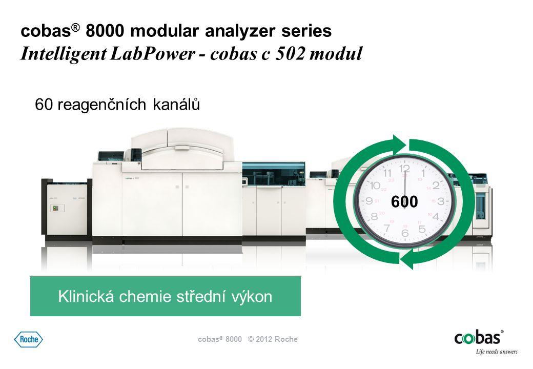 170 25 reagenčních kanálů Imunochemie cobas ® 8000 modular analyzer series Intelligent LabPower - cobas e 602 modul cobas ® 8000 © 2012 Roche