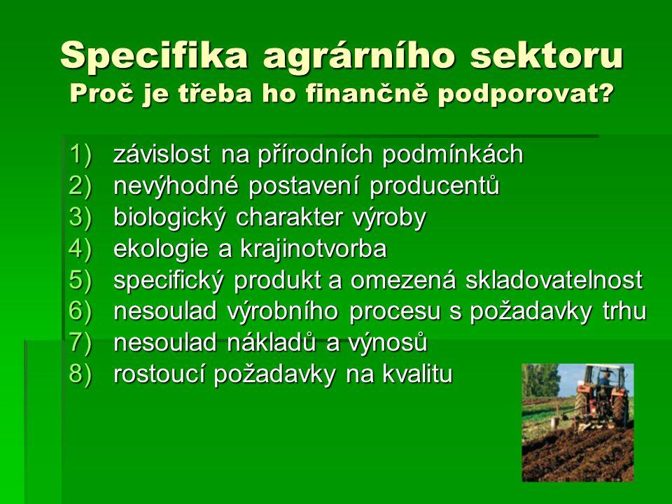 Další důvody vzniku SZP  historicko - politické, strategické, konkurenční důvody  Po válce - Evropa dovozce potravin, - srovnání s USA nelichotivé, - srovnání s USA nelichotivé, - evropské zemědělství neefektivní - evropské zemědělství neefektivní------------------------------------------------------------------------------------------------------------------  Pro zajímavost pár čísel: -EHS - 17,5 mil.