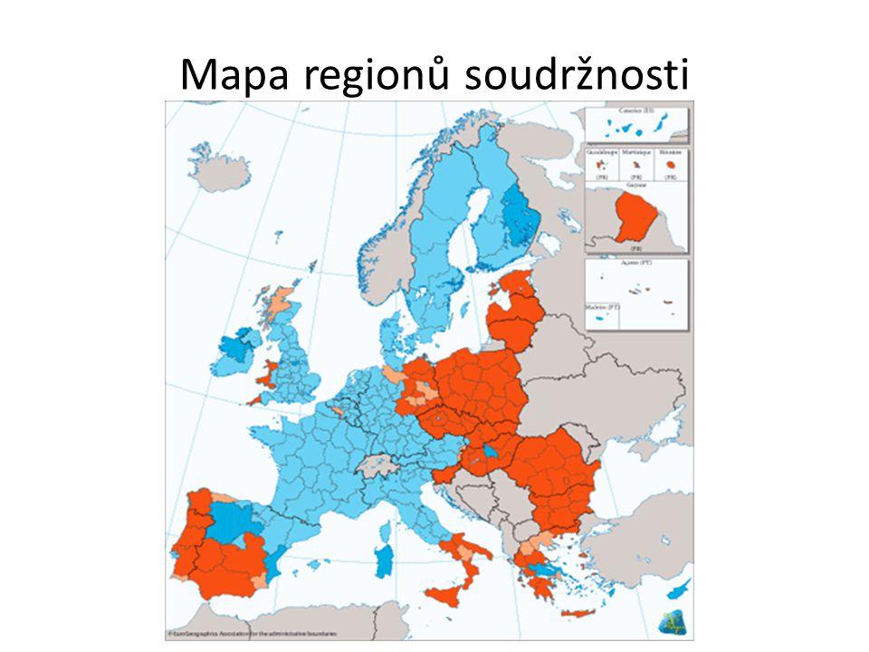 Mapa regionů soudržnosti