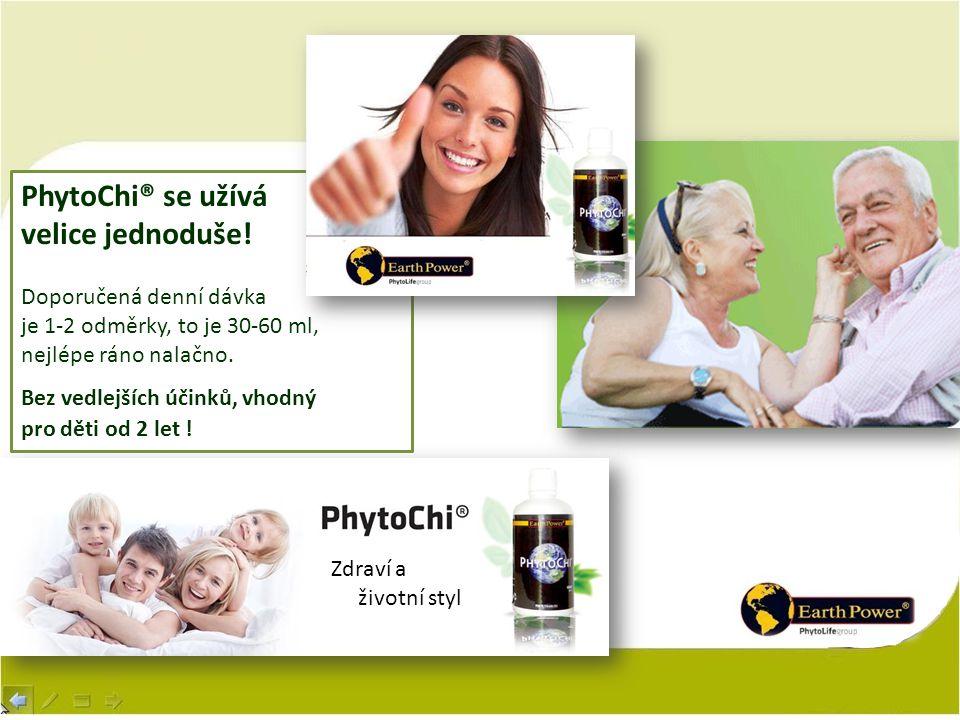 Zdraví a životní styl PhytoChi® se užívá velice jednoduše! Doporučená denní dávka je 1-2 odměrky, to je 30-60 ml, nejlépe ráno nalačno. Bez vedlejších