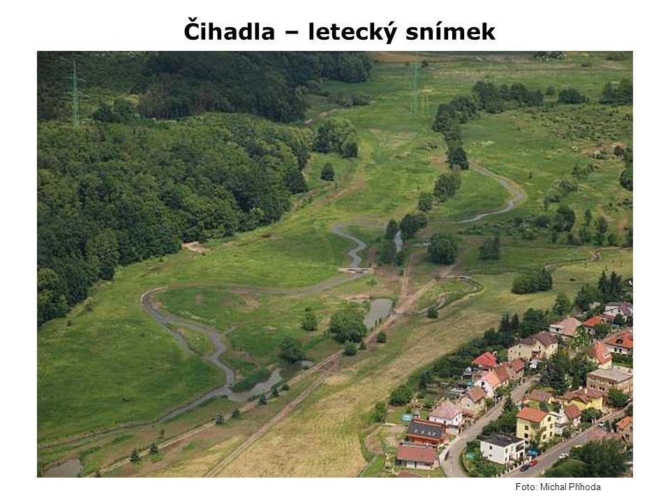 Čihadla – letecký snímek Foto: Michal Příhoda