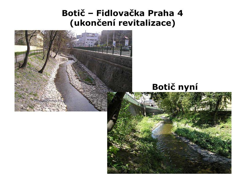 Botič – Fidlovačka Praha 4 (ukončení revitalizace) Botič nyní
