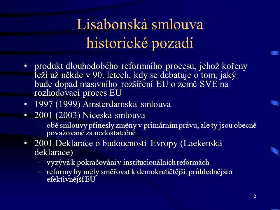 3 3 Cesta k Lisabonsk é smlouvě.