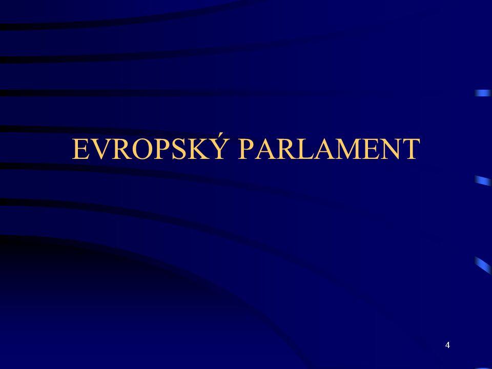 5 Evropský parlament I Pravomoci –Legislativní (v řadě oblastí rozhoduje spolu s Radou) –Rozpočtová (schvaluje rozpočet EU a může nově měnit i jeho jednotlivé položky) –Kontrolní (kontroluje Komisi) –Politická pravomoc –Role EP v otázce vystoupení členského státu z EU –Ochrana občanů EU