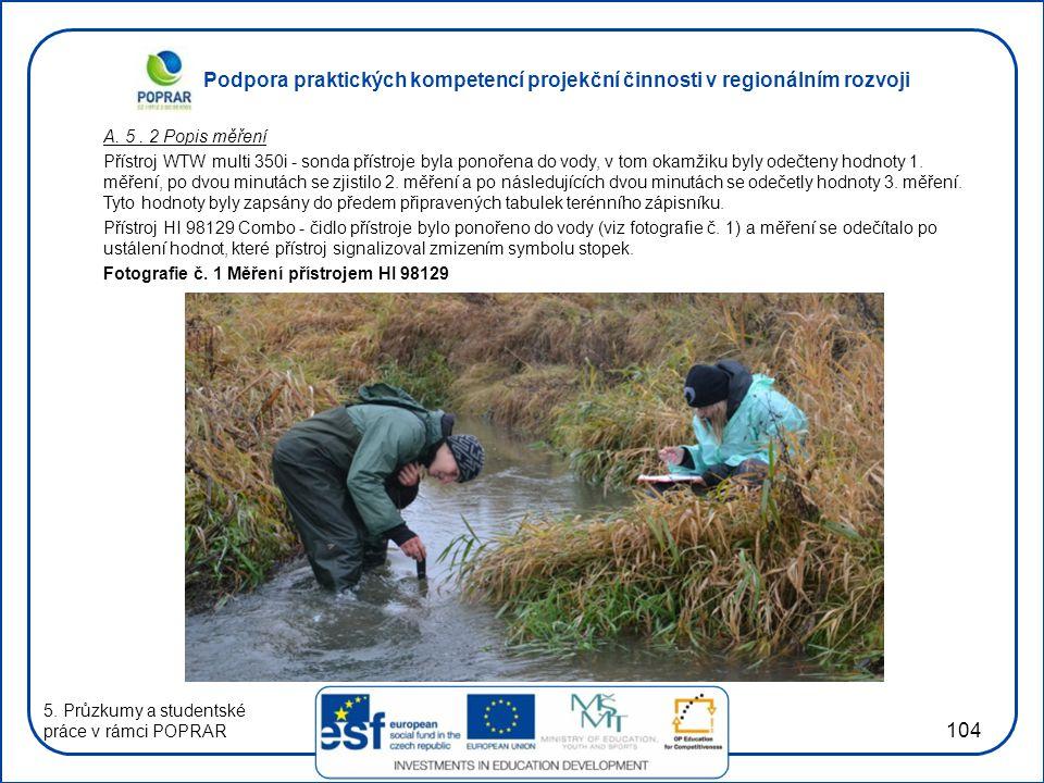 Podpora praktických kompetencí projekční činnosti v regionálním rozvoji 104 A.