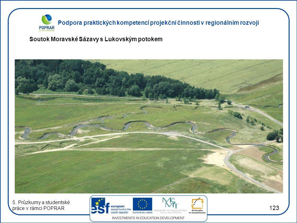 Podpora praktických kompetencí projekční činnosti v regionálním rozvoji 123 Soutok Moravské Sázavy s Lukovským potokem 5.
