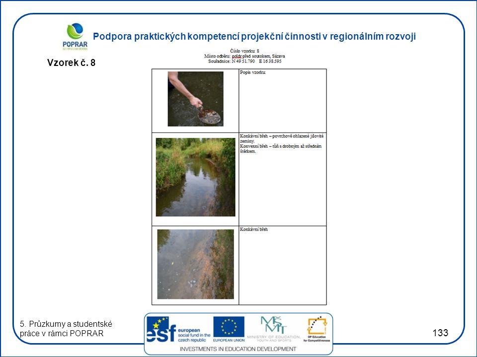 Podpora praktických kompetencí projekční činnosti v regionálním rozvoji 133 Vzorek č. 8 5. Průzkumy a studentské práce v rámci POPRAR