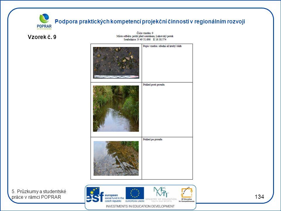 Podpora praktických kompetencí projekční činnosti v regionálním rozvoji 134 Vzorek č. 9 5. Průzkumy a studentské práce v rámci POPRAR