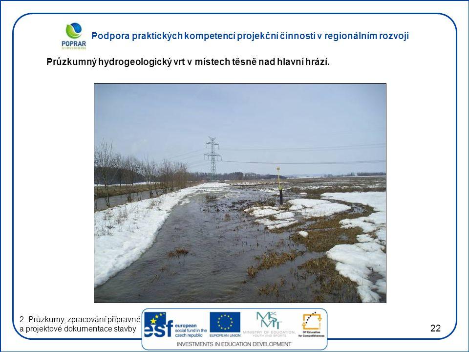 Podpora praktických kompetencí projekční činnosti v regionálním rozvoji 22 2.