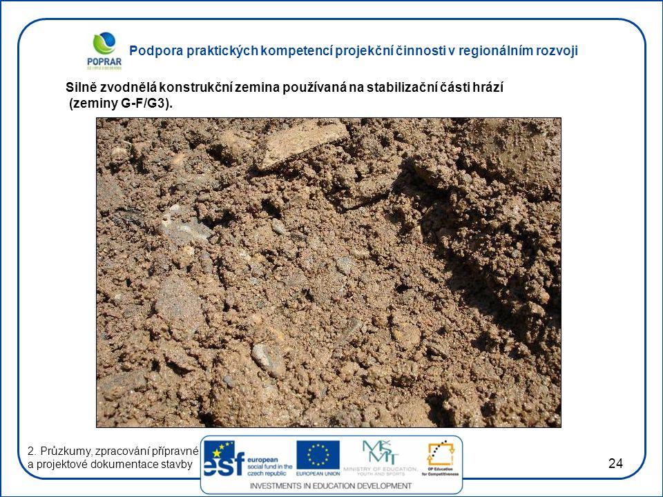 Podpora praktických kompetencí projekční činnosti v regionálním rozvoji 24 2. Průzkumy, zpracování přípravné a projektové dokumentace stavby Silně zvo