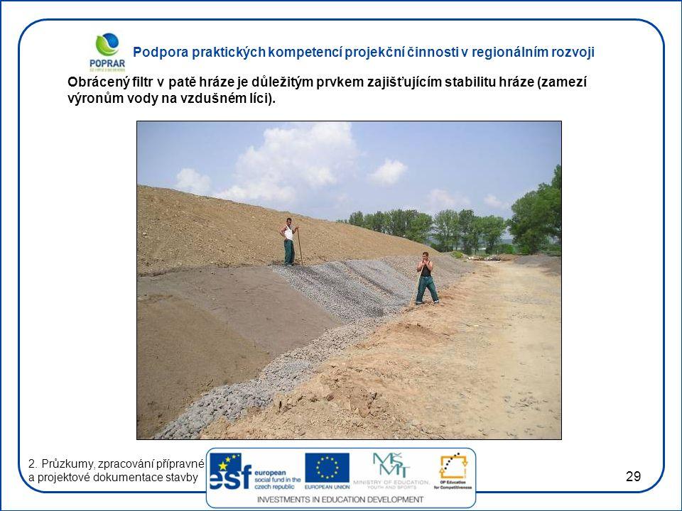 Podpora praktických kompetencí projekční činnosti v regionálním rozvoji 29 2. Průzkumy, zpracování přípravné a projektové dokumentace stavby Obrácený