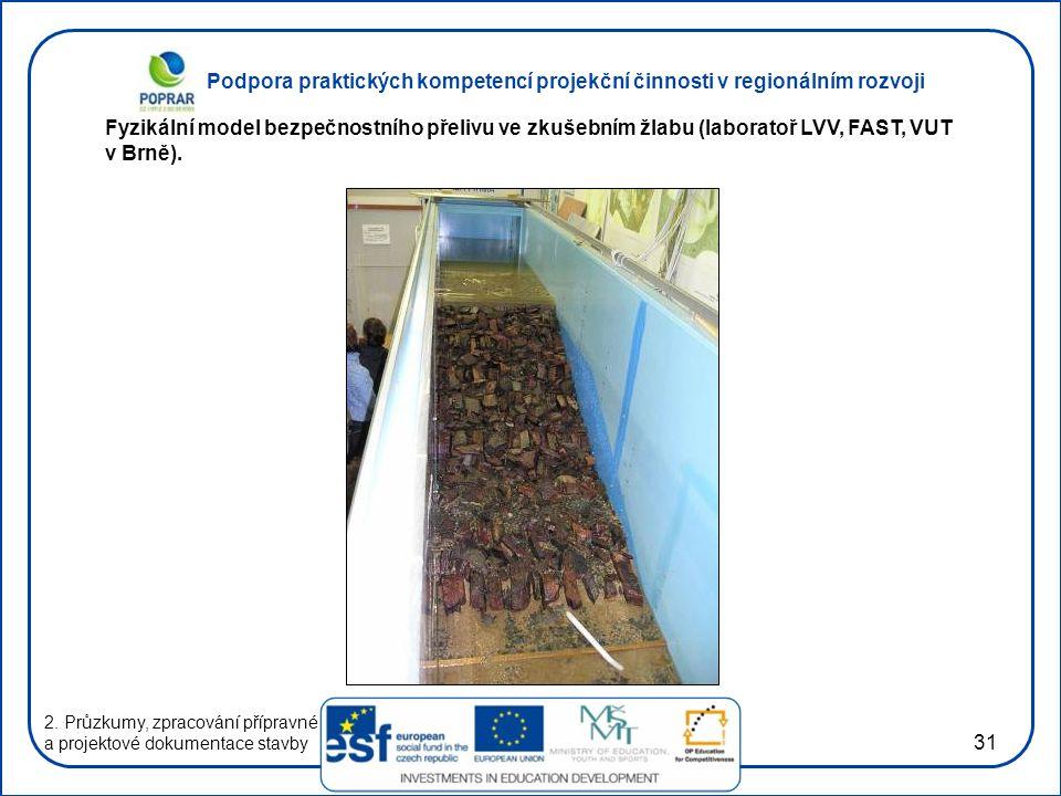 Podpora praktických kompetencí projekční činnosti v regionálním rozvoji 31 2.