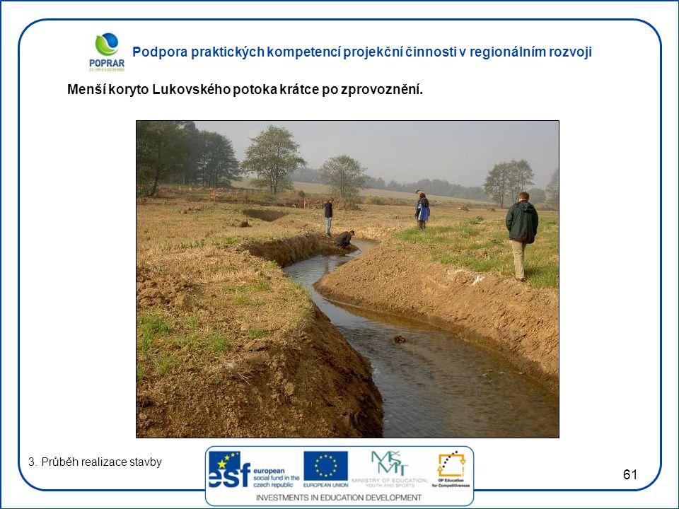 Podpora praktických kompetencí projekční činnosti v regionálním rozvoji 61 3.