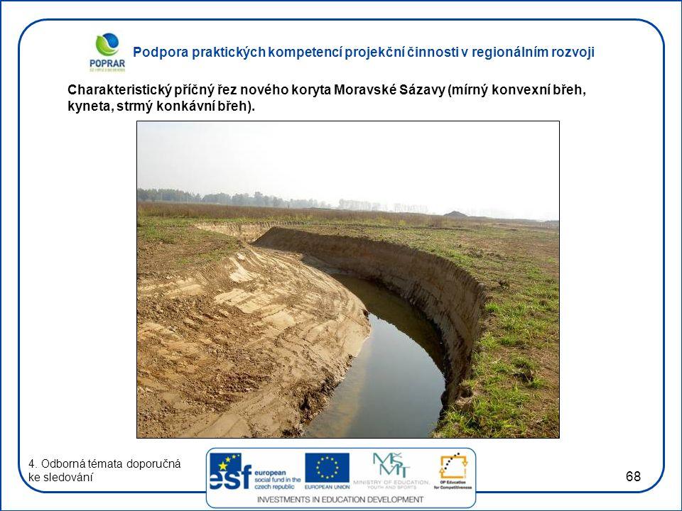 Podpora praktických kompetencí projekční činnosti v regionálním rozvoji 68 4. Odborná témata doporučná ke sledování Charakteristický příčný řez nového