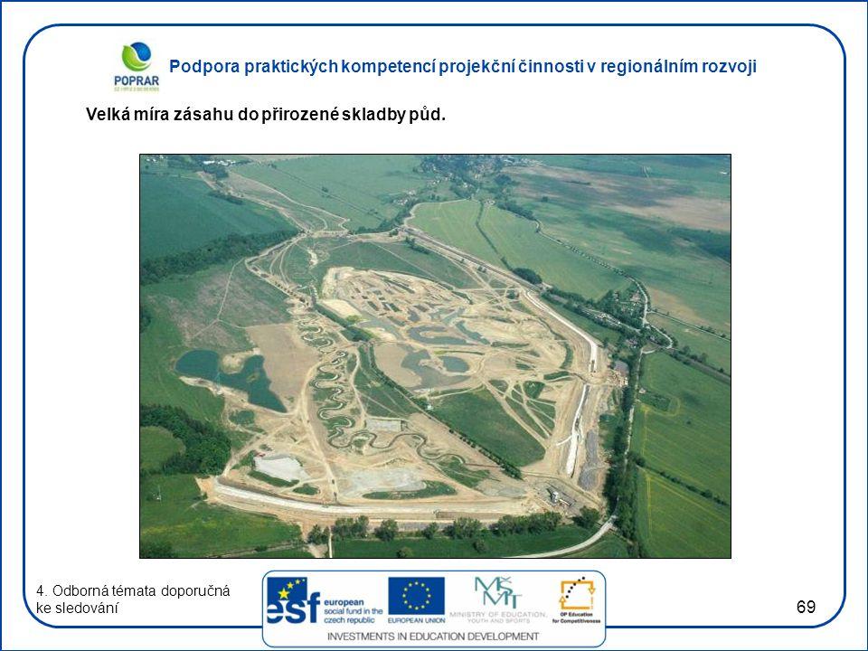 Podpora praktických kompetencí projekční činnosti v regionálním rozvoji 69 4. Odborná témata doporučná ke sledování Velká míra zásahu do přirozené skl