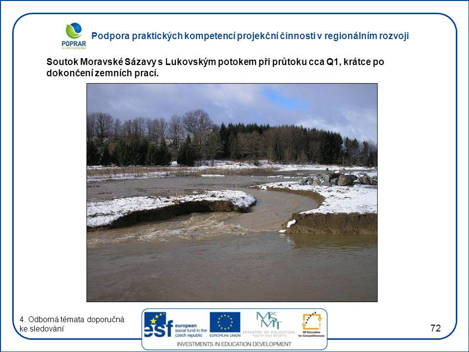 Podpora praktických kompetencí projekční činnosti v regionálním rozvoji 72 4. Odborná témata doporučná ke sledování Soutok Moravské Sázavy s Lukovským
