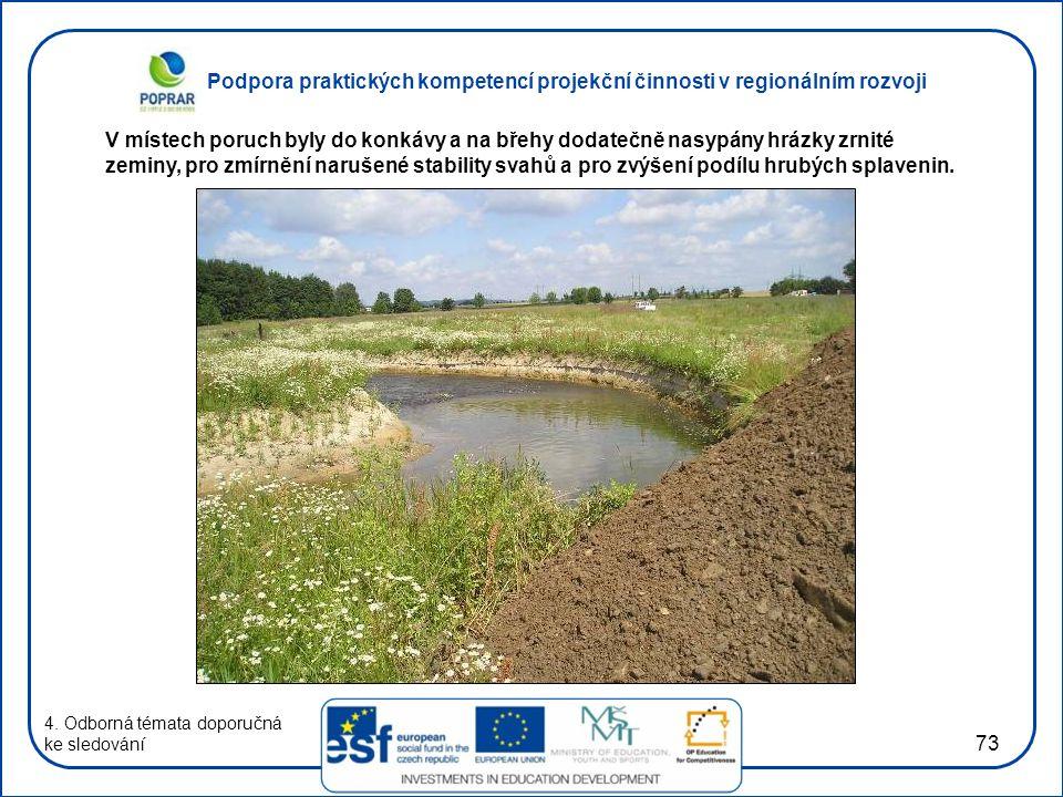 Podpora praktických kompetencí projekční činnosti v regionálním rozvoji 73 4. Odborná témata doporučná ke sledování V místech poruch byly do konkávy a