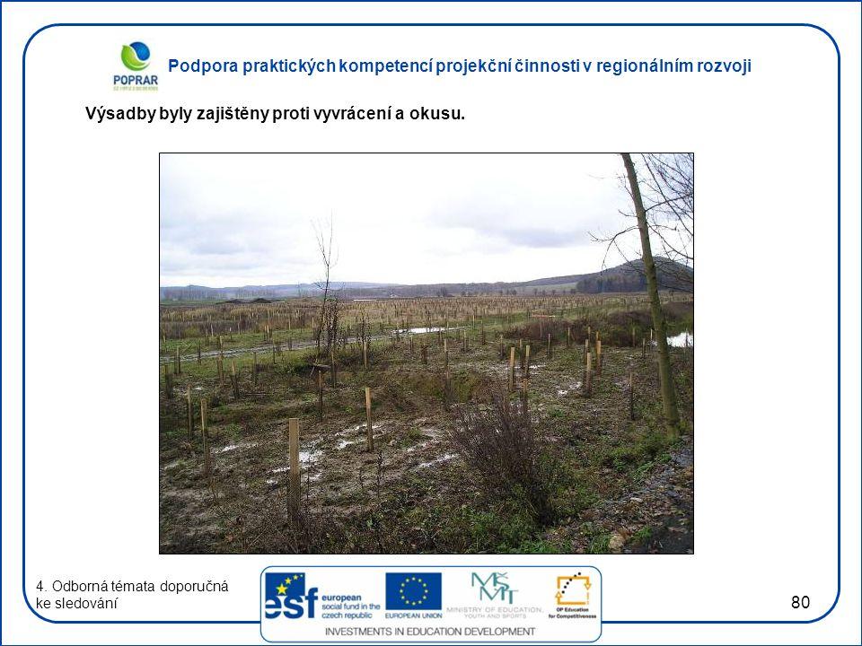 Podpora praktických kompetencí projekční činnosti v regionálním rozvoji 80 4.