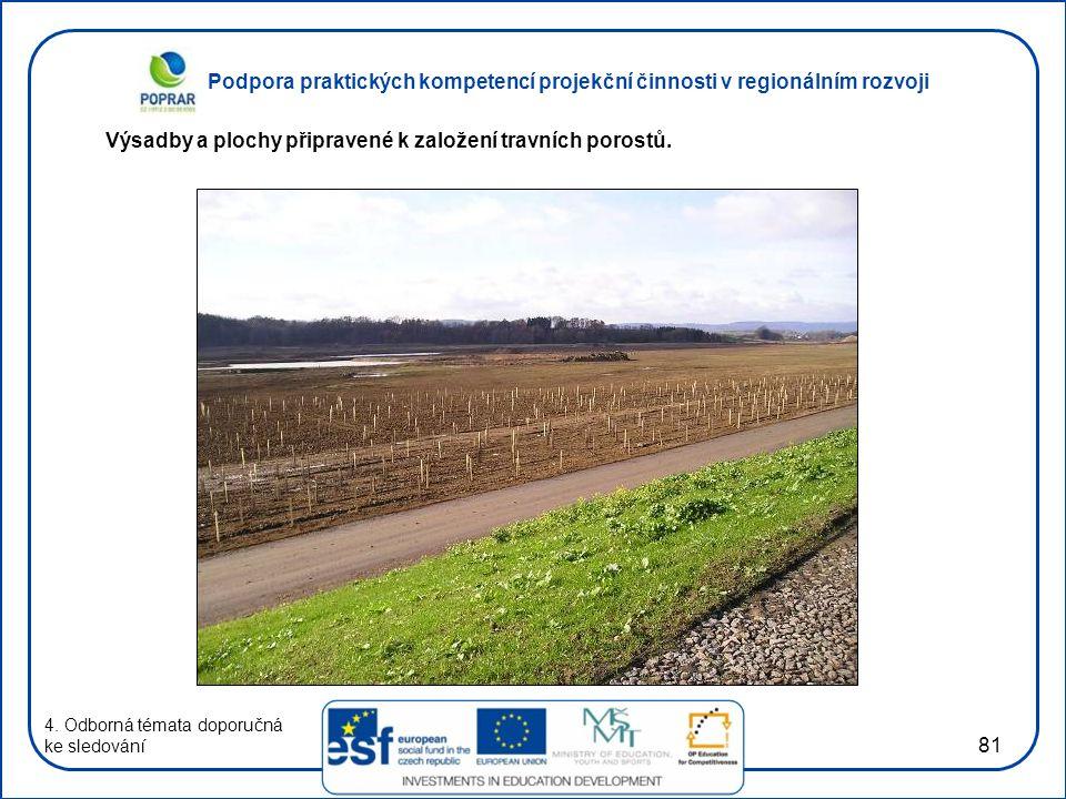Podpora praktických kompetencí projekční činnosti v regionálním rozvoji 81 4. Odborná témata doporučná ke sledování Výsadby a plochy připravené k zalo