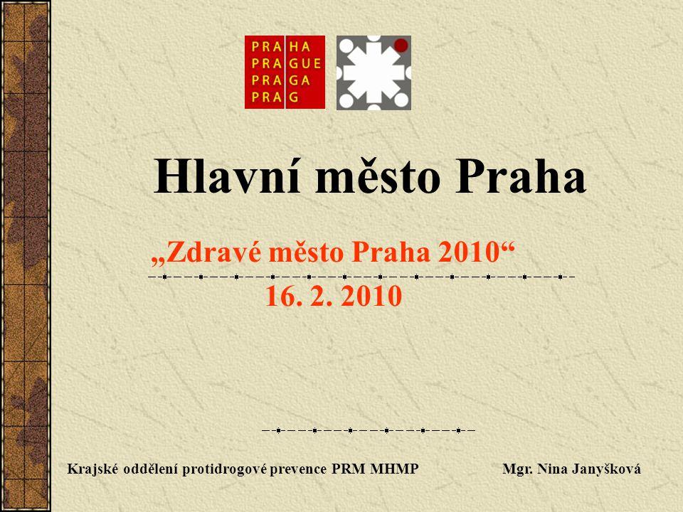 Mgr.Nina Janyšková Magistrát hl. m. Prahy Vedoucí oddělení protidrogové prevence Mariánské nám.