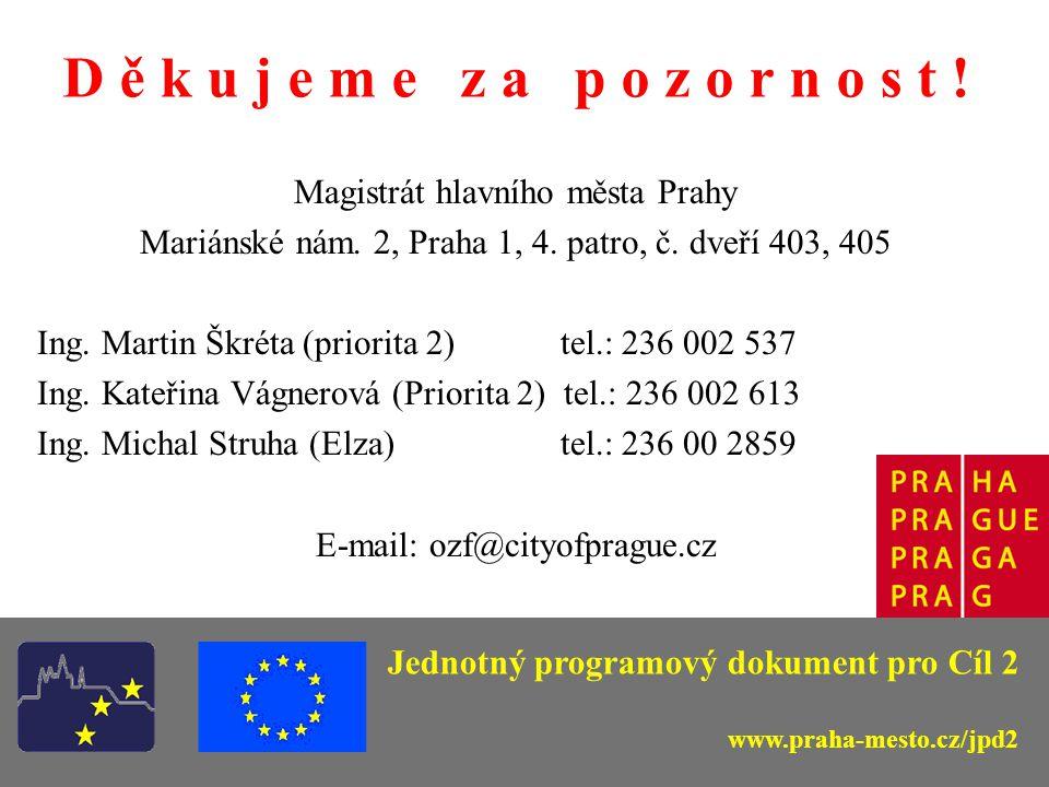 D ě k u j e m e z a p o z o r n o s t . Magistrát hlavního města Prahy Mariánské nám.