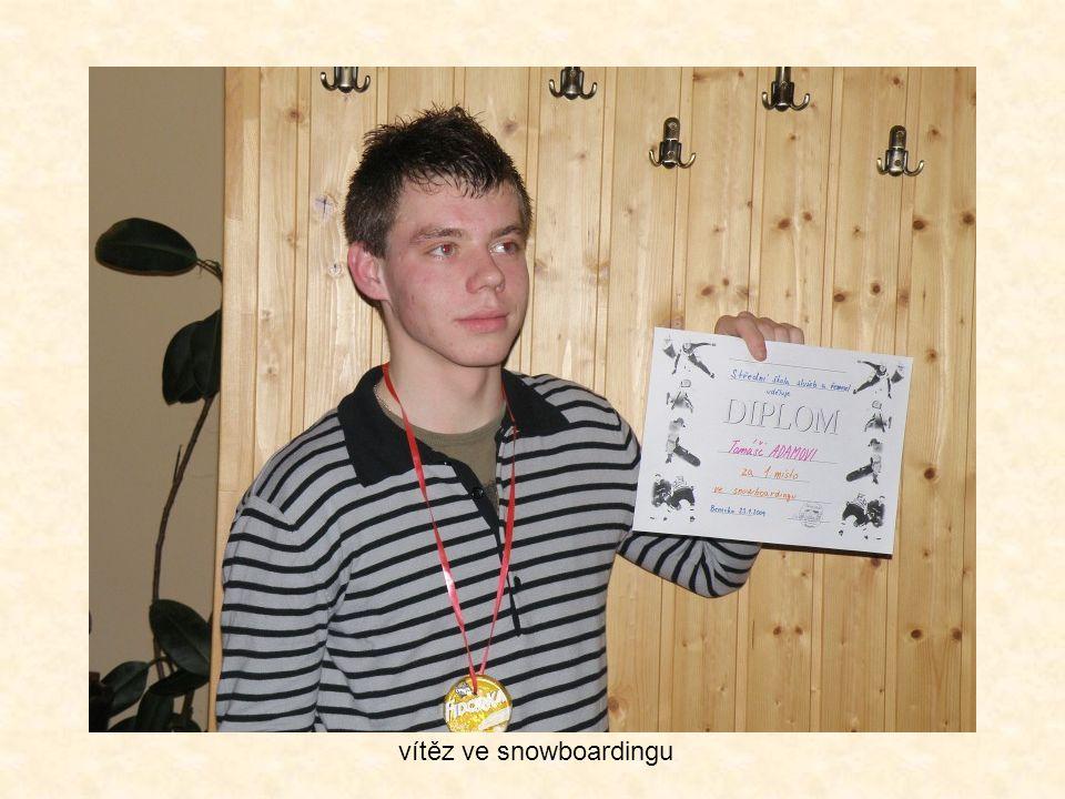 vítěz ve snowboardingu
